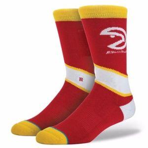STANCE NBA Atlanta Hawks Red Socks M